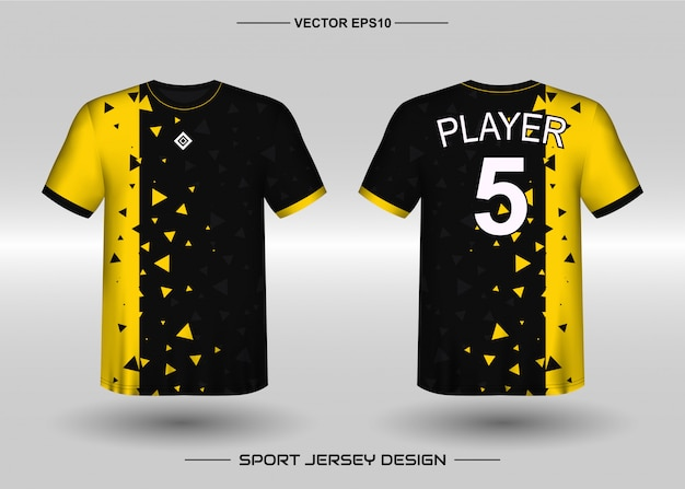 Sports jersey design template for soccer team Premium Vector