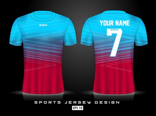 Sports jersey template Premium Vector