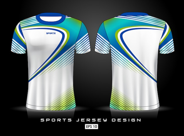 Sports jersey template Premium Vector