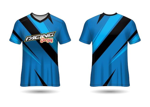 Sports racing  jersey design template for team uniforms Premium Vector