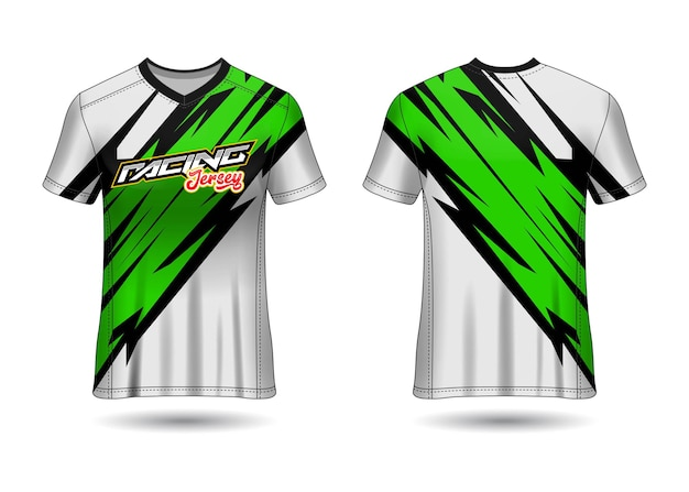 Sports racing  jersey design template for team uniforms Premium Vector