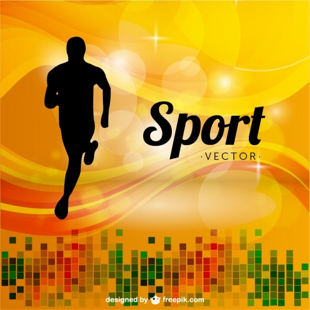 Sports Runner Background Vector