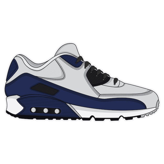 Sports shoes poster design Premium Vector