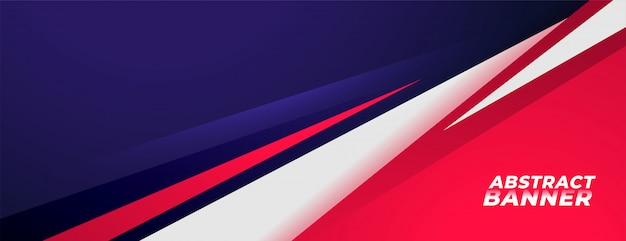 Sports style background banner design in red and purple colors Free Vector