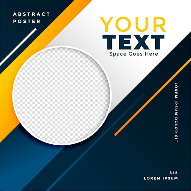 Sports style modern banner with image space Free Vector