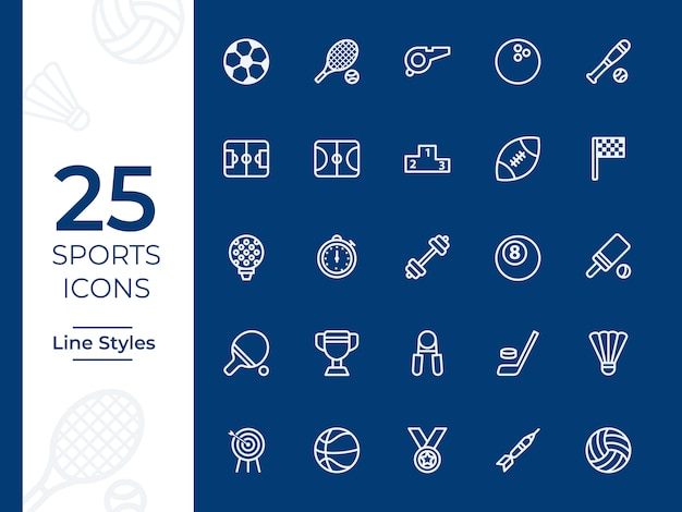 Sports vector icon Premium Vector