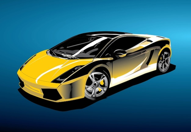 Sports Yellow Car Vector Stock Images Page Everypixel