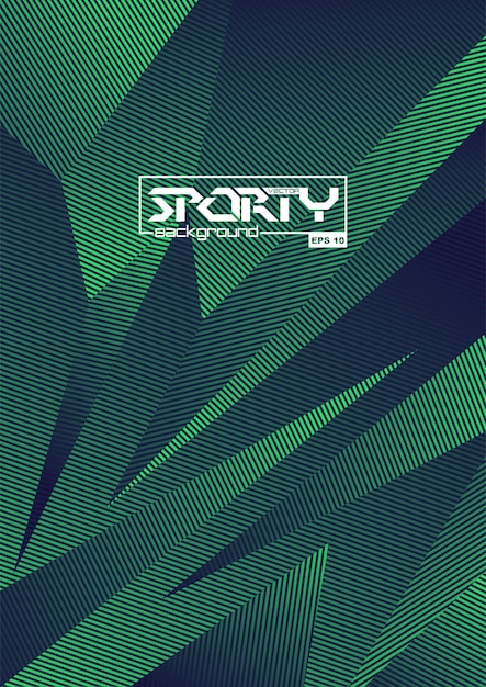 Sporty abstract background Premium Vector