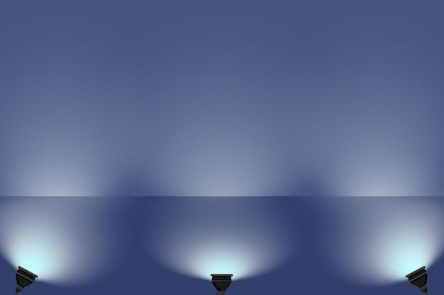 Spot lights background concept Premium Vector