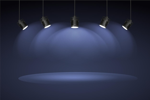 Spot lights background concept Free Vector