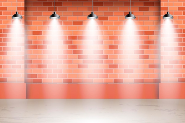 Spot lights background on the streets Free Vector