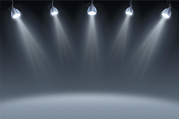 Spot lights background Free Vector
