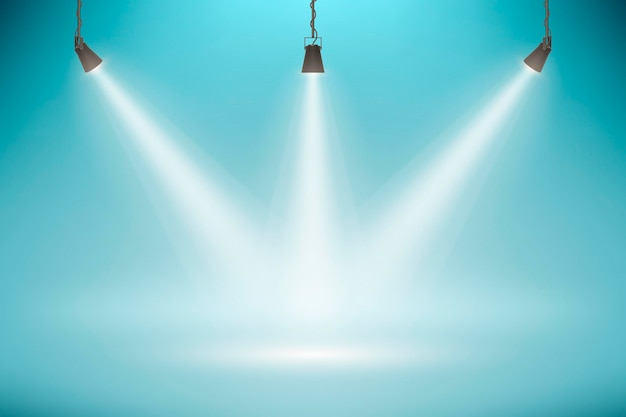 Spot lights background Free Vector