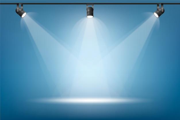 Spot lights background Premium Vector