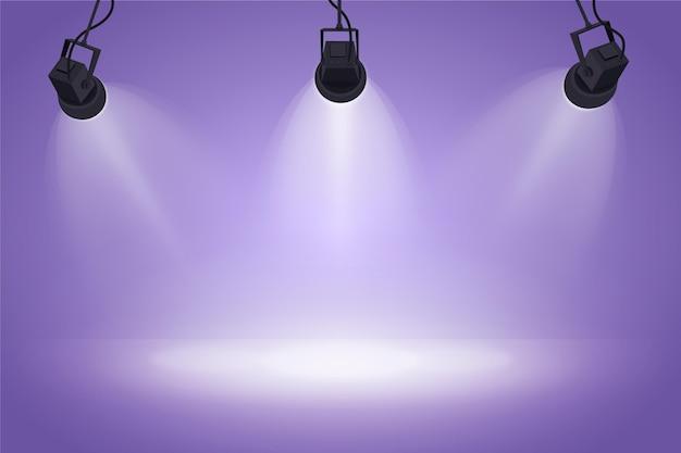 Spot lights wallpaper Premium Vector