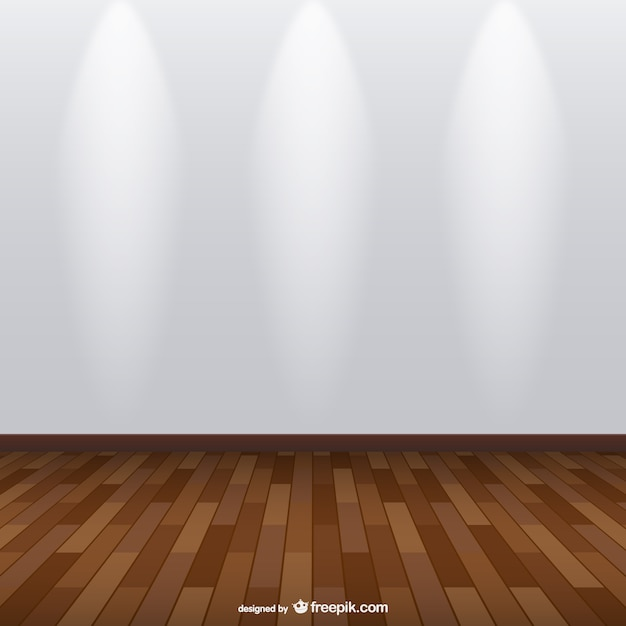 Spotlight Exhibition Room With Wooden Floor Vector Free