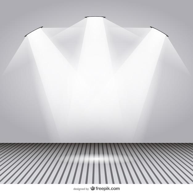 Spotlight room design Free Vector