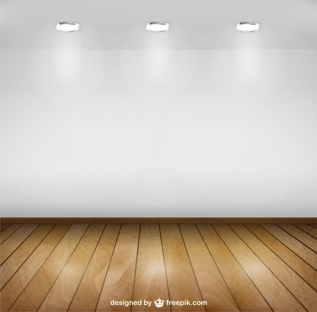 Spotlight room with wooden floor Vector Free Download
