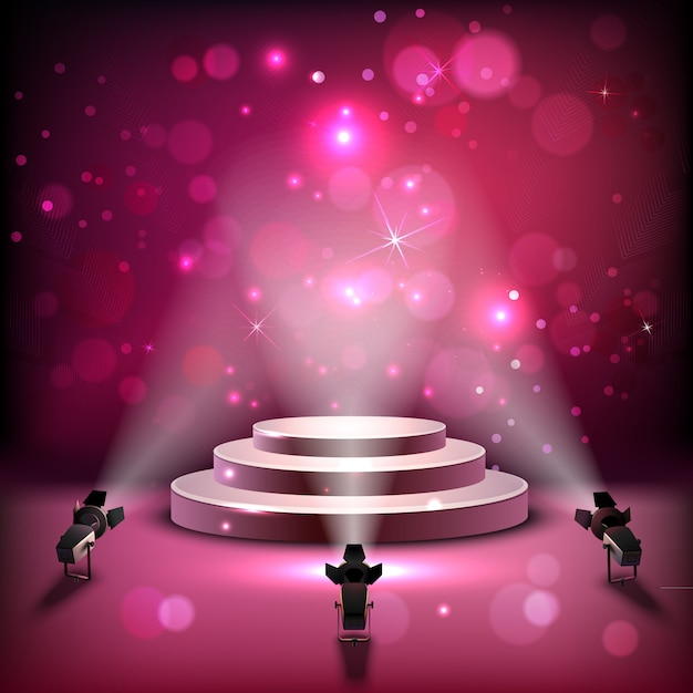 Spotlight scene background Free Vector