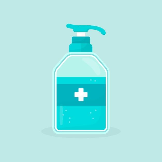 Spray bottle with hand sanitizer flat design Premium Vector