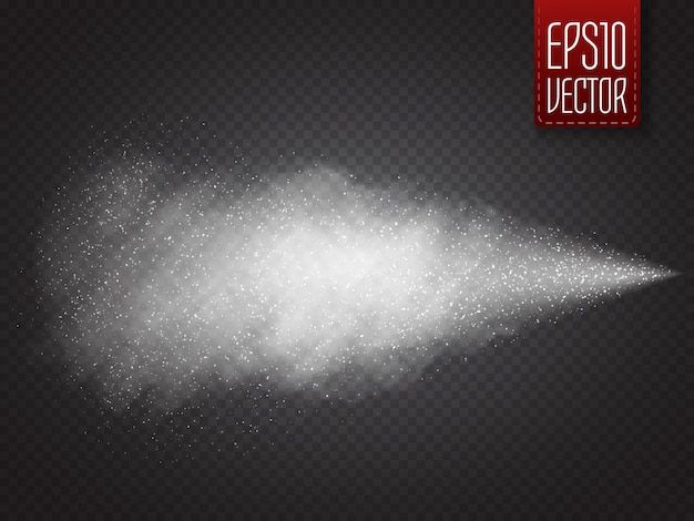 Spray effect isolated. vector ssmoke with many small particles Premium Vector