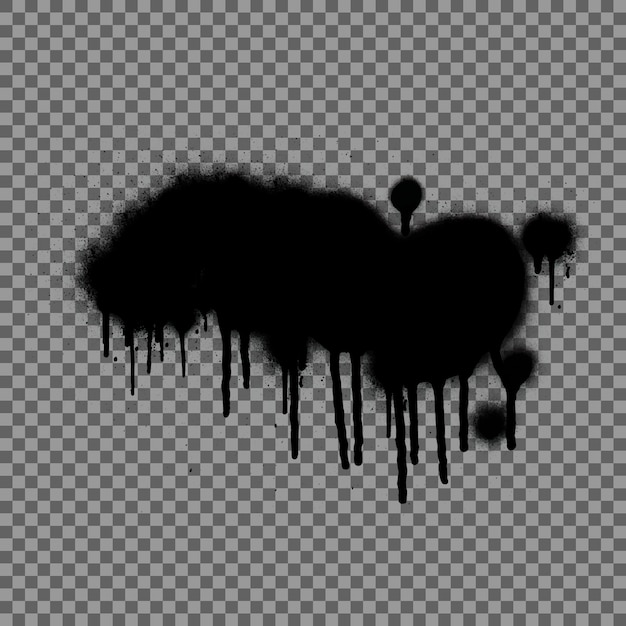 Spray graffiti. black splashes Premium Vector