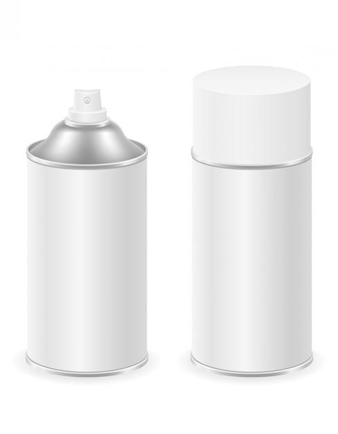 Spray paint in a metal can container Premium Vector