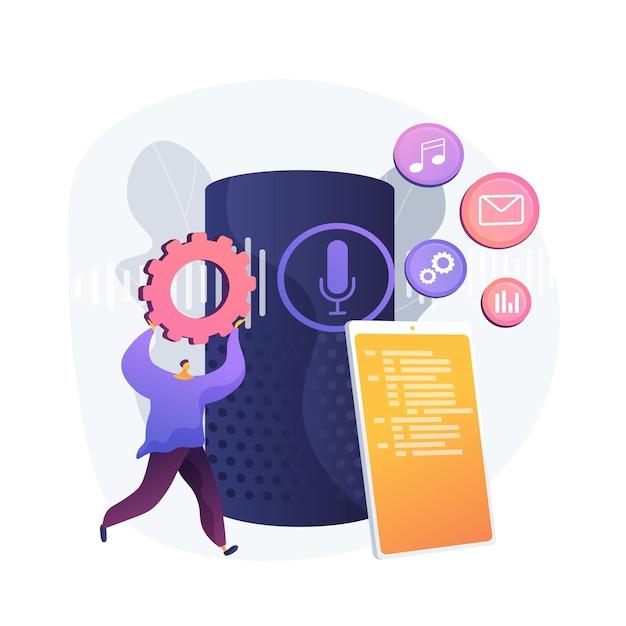 さまざまなメディアを広める。モバイルメニュー設定の選択。ファイルの管理、レコードの整理、コンテンツの配信。スマートフォンフォルダ。マルチメディアを配布します。ベクトル分離された概念の比喩の図。 無料ベクター