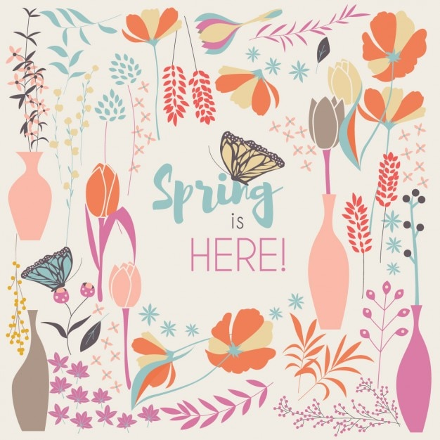 Spring background design Free Vector
