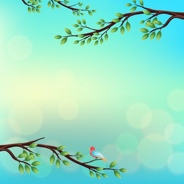 spring background design vector free download
