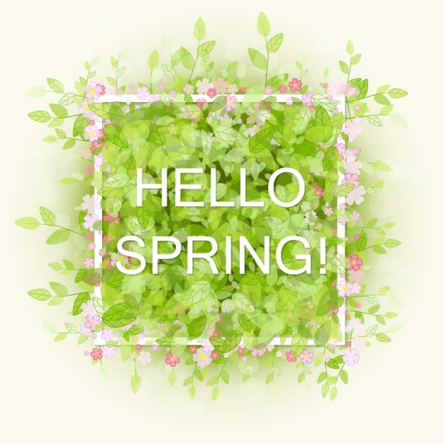 Spring Background Design Premium Vector