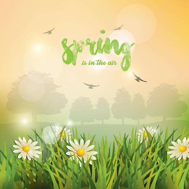 Spring background. Premium Vector