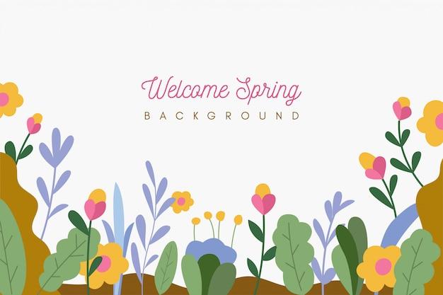 Spring background Premium Vector