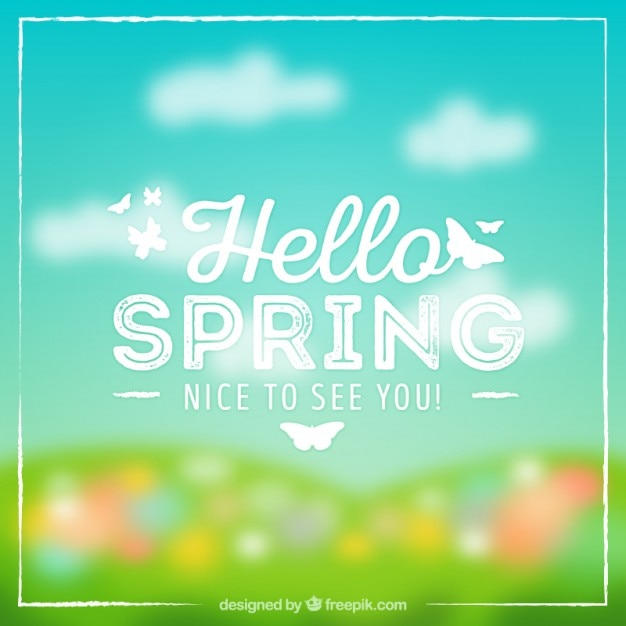 spring blur background free vector