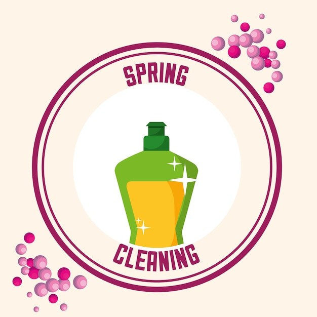 Spring cleaning concept Premium Vector