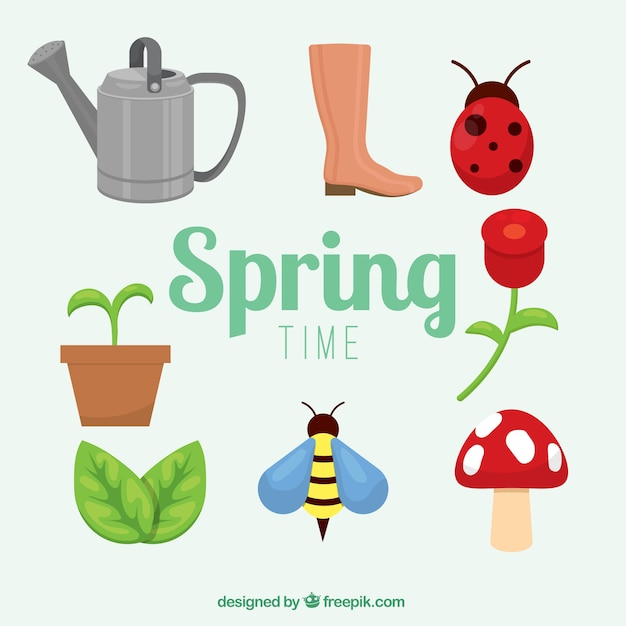 Spring drawing collection Free Vector