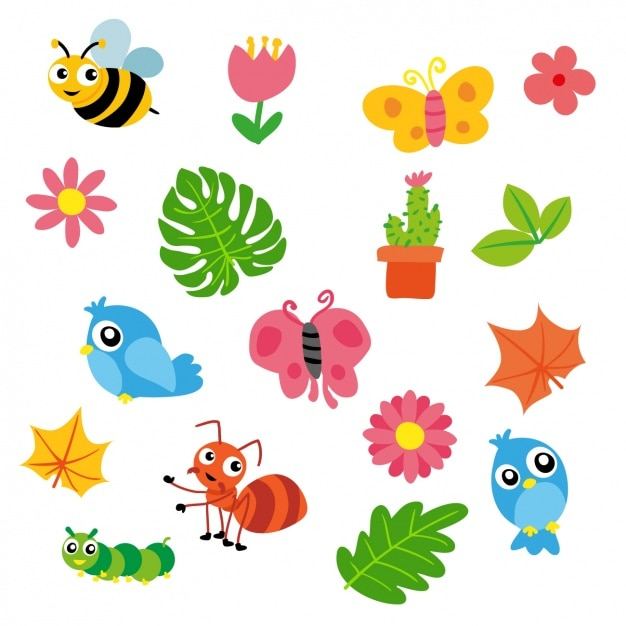 spring elements collection vector free download vintage bee vector free Killer Bee Vector