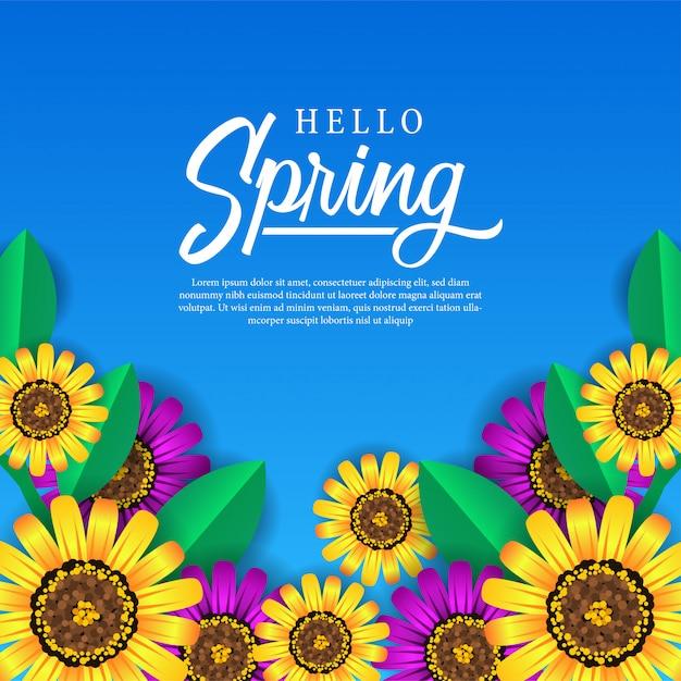Spring feminine flower blossom Premium Vector