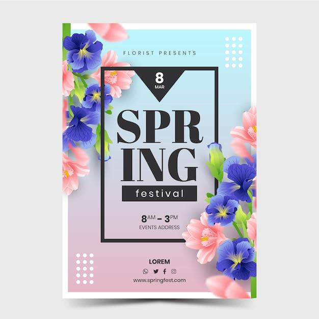 봄 축제 포스터 프리미엄 벡터