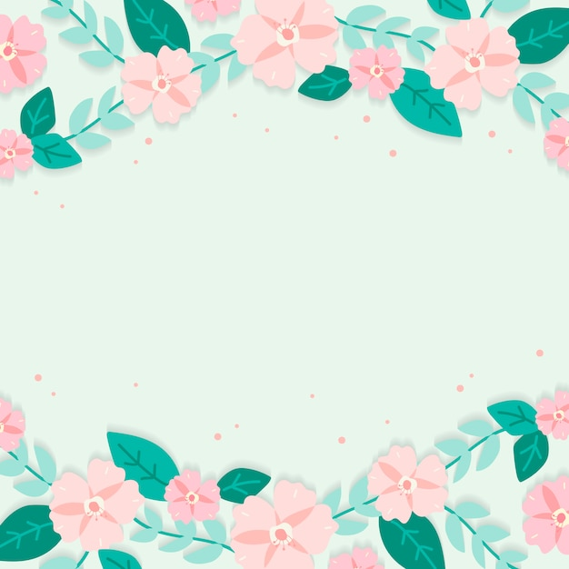Spring Floral Border Illustration Vector Free Download