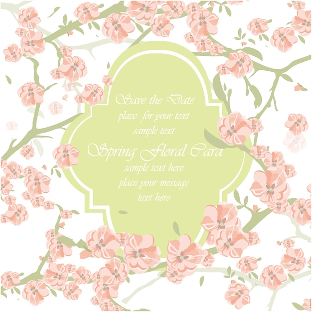 Spring floral card template vector free download spring floral card template free vector mightylinksfo