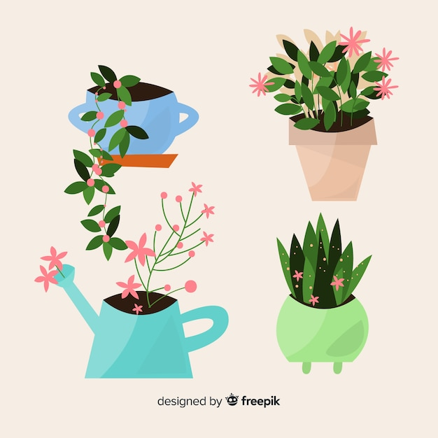 Spring floral collection Free Vector