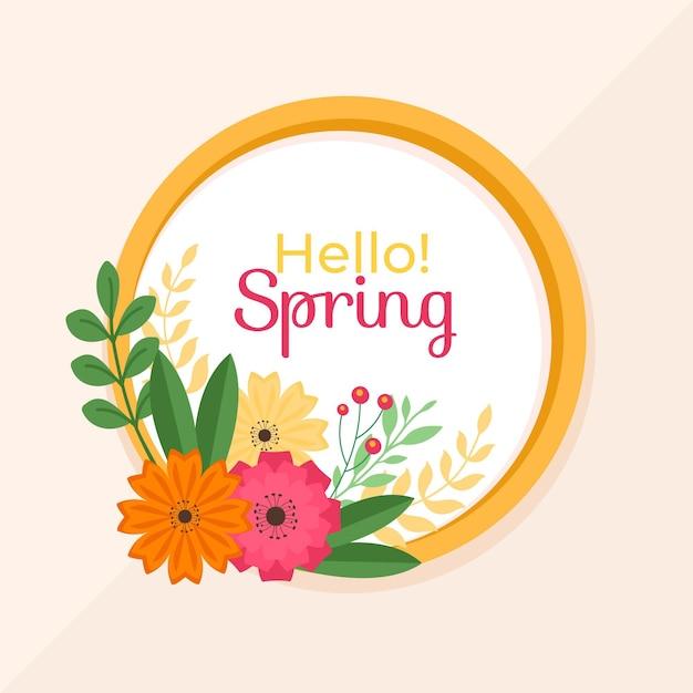 봄 꽃 프레임 무료 벡터
