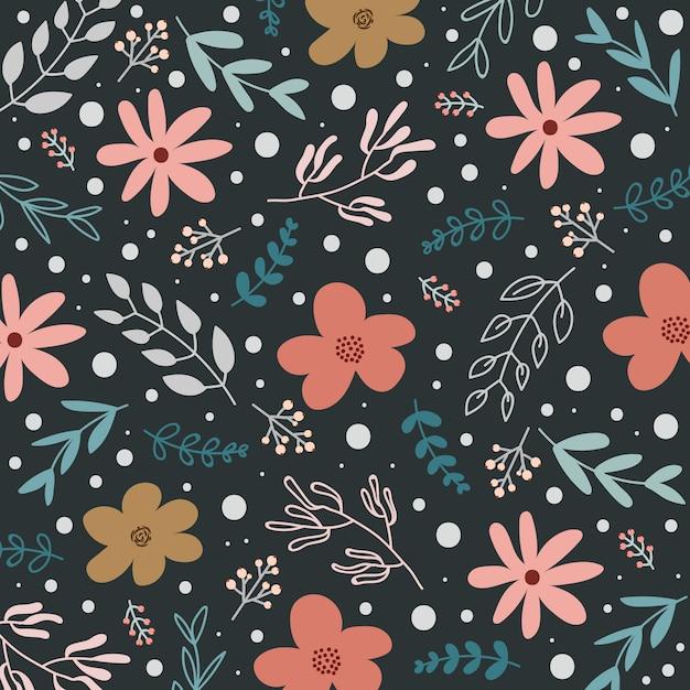 Spring floral pattern or background Premium Vector