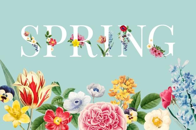 Весенний цветочный вектор Бесплатные векторы