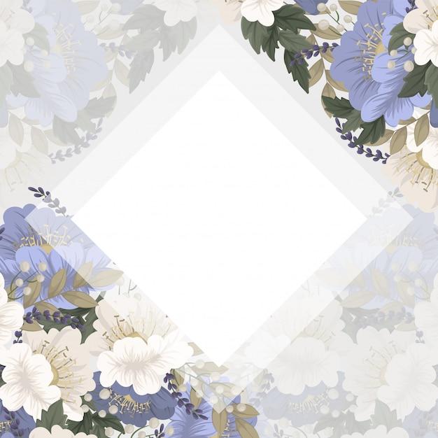 Spring flower boarder - light blue flower Free Vector