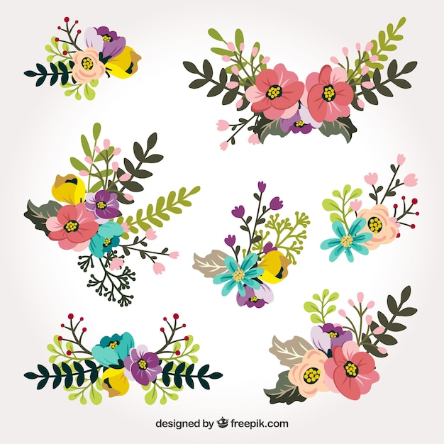 Spring flower collection Free Vector