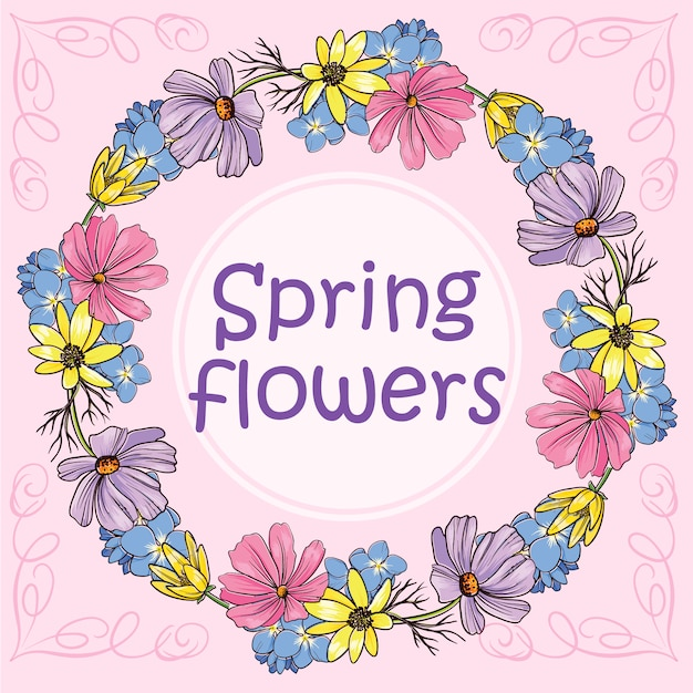 Spring Flowers Vectors Free Vector Graphics Everypixel
