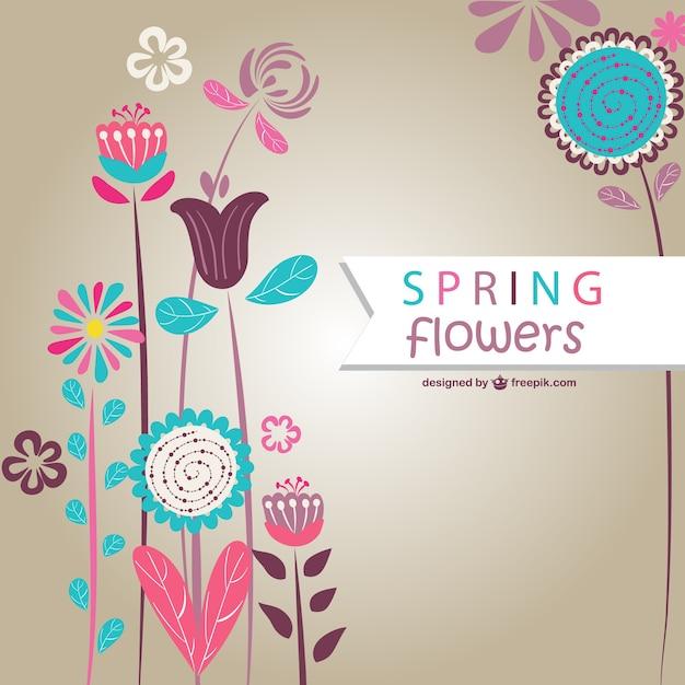 banco de jardim vetor:Spring Flowers Vector Art