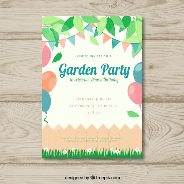 Spring garden party invitation vector free download spring garden party invitation free vector stopboris Choice Image